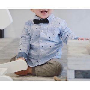 H&M cotton blue star shirt 1 1/2-2Y
